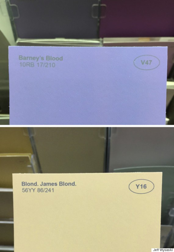 barney's blood & blond, James blond.