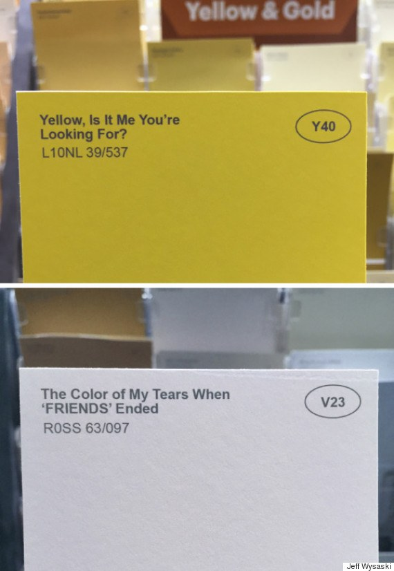Yellow, is it me your looking for & Color of my tears when friends ended