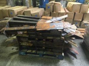 steel on pallets