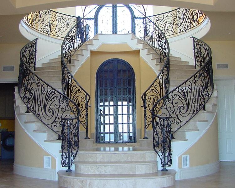 Wrought Iron Stair Railing Handrails
