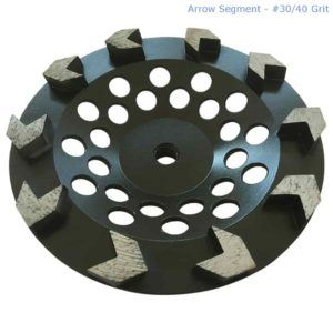 Diamond wheel for epoxy garage flooring