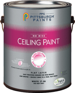 Pittsburg Paint no miss ceiling paint