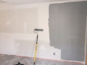 tinted primer on wall
