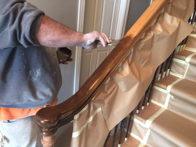 Restaining Woodwork