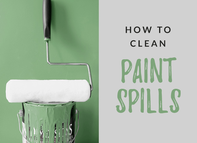 How to Clean Paint Spills