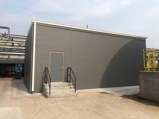 Painted exterior industrial project